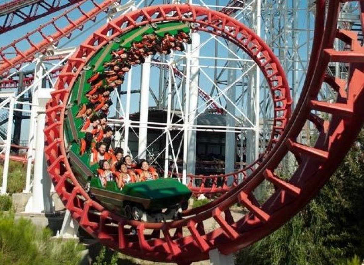 <em>Photo Credit: Courtesy of Six Flags Magic Mountain</em>  Where: Valencia, California  Main Attraction: Twisted Coloss