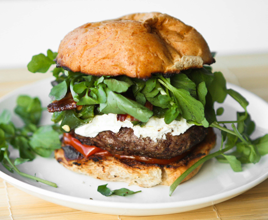 """<strong>Get the <a href=""""http://www.pipandebby.com/pip-ebby/2011/5/25/green-chile-bacon-burgers-with-goat-cheese.html"""">Green"""