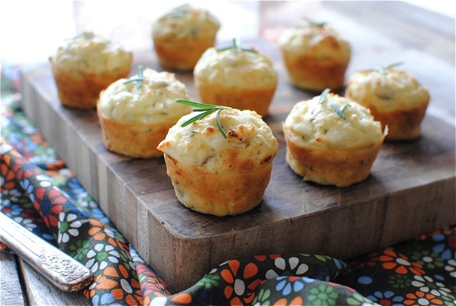 """<strong>Get the <a href=""""http://bevcooks.com/2012/11/savory-mini-muffins-with-goat-cheese-red-onion-and-rosemary/"""">Savory Min"""