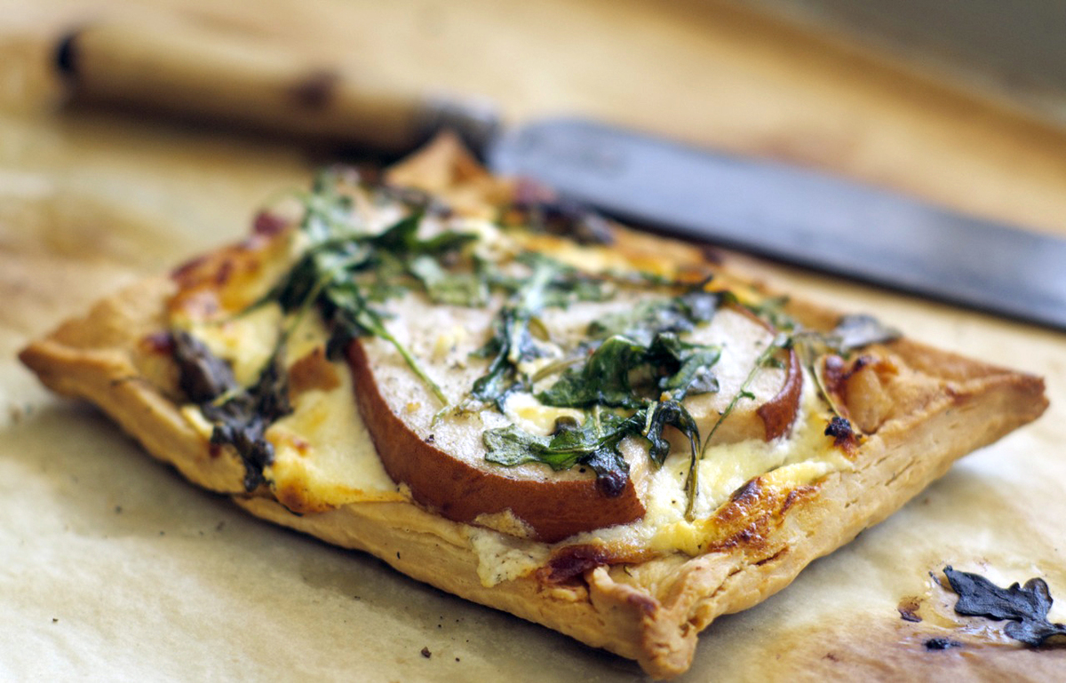 """<strong>Get the <a href=""""http://food52.com/recipes/10265-rustic-pear-serrano-ham-and-goat-cheese-tartlets"""">Rustic Pear, Serra"""