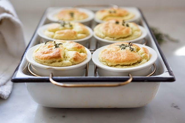 "<strong>Get the <a href=""http://www.feastingathome.com/2014/04/artichoke-souffle-with-goat-cheese.html"" target=""_blank"">Artic"