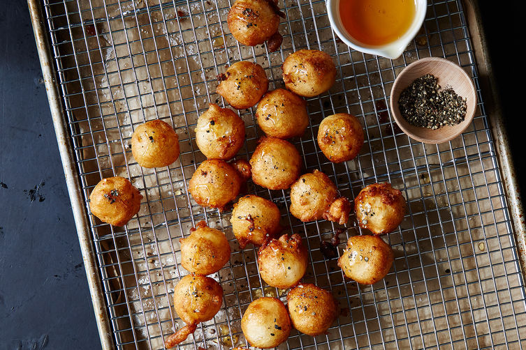 """<strong>Get the <a href=""""http://food52.com/recipes/34179-fried-goat-cheese-with-honey-and-black-pepper"""" target=""""_blank"""">Fried"""