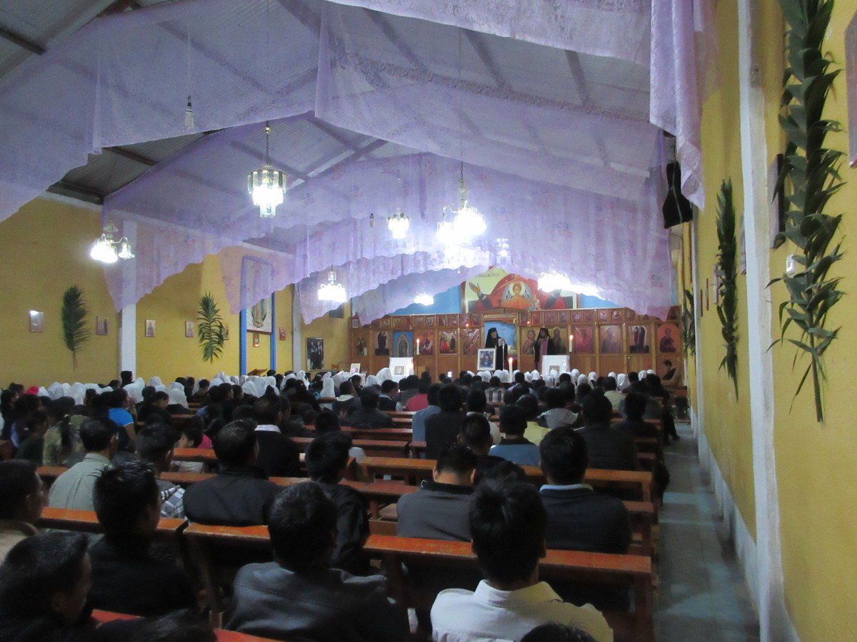 Holy week services in Aguacate, Guatemala.