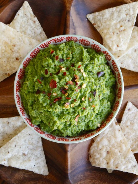 "<a href=""http://toriavey.com/toris-kitchen/2014/04/spring-pea-guacamole/"" target=""_blank"">Get the recipe from Tori Avey here."