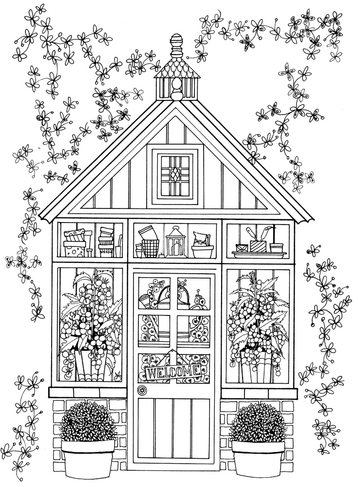 10 adult coloring books to help you de stress and self for Garden 50 designs to help you destress