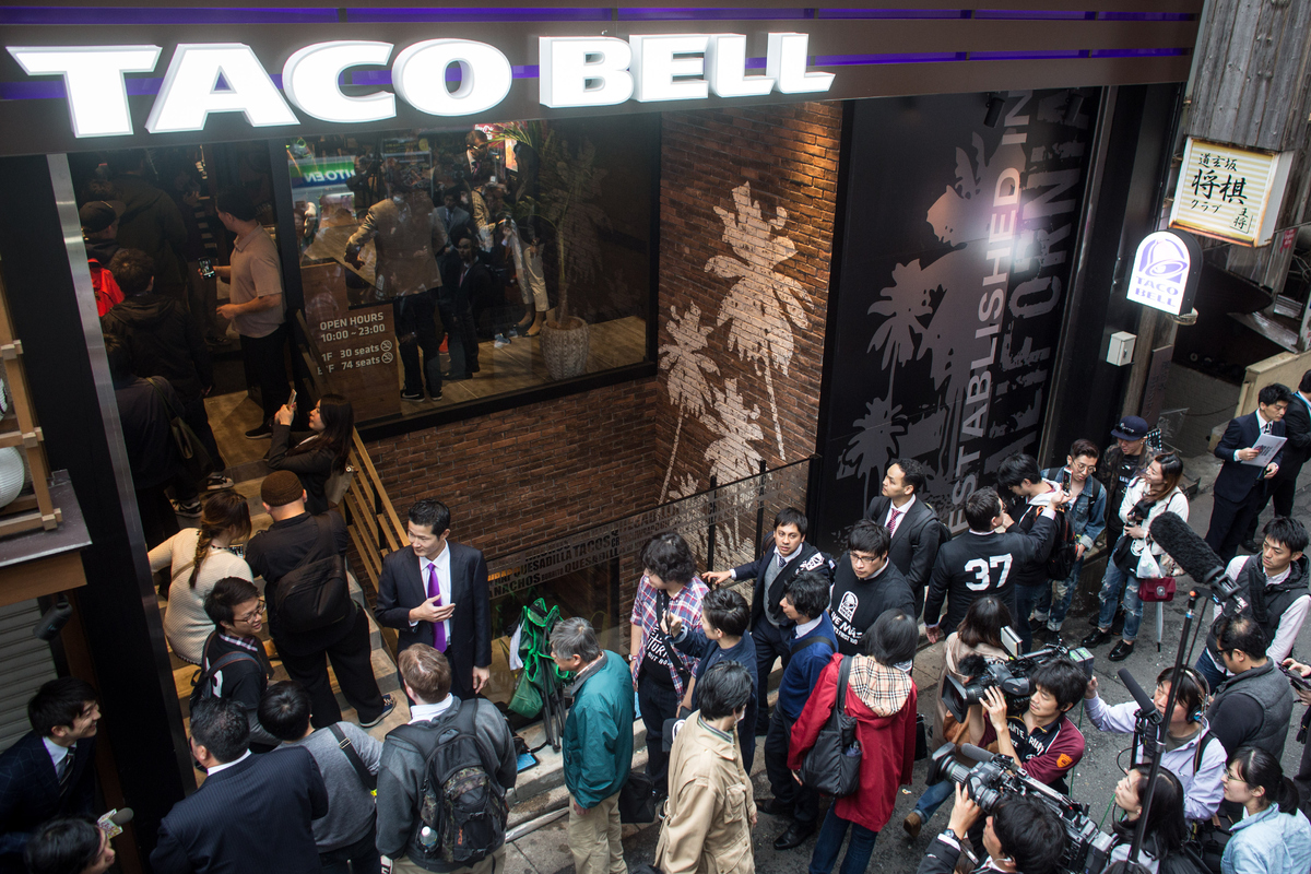 """About <a href=""""http://www.eater.com/2015/4/21/8463645/taco-bell-japan-inspires-absurd-lines-in-tokyo"""" target=""""_blank"""">150 peo"""
