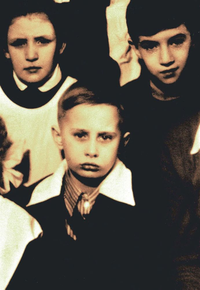 A class photo of Vladimir Putin, dated 1960, in St. Petersburg, Russia.