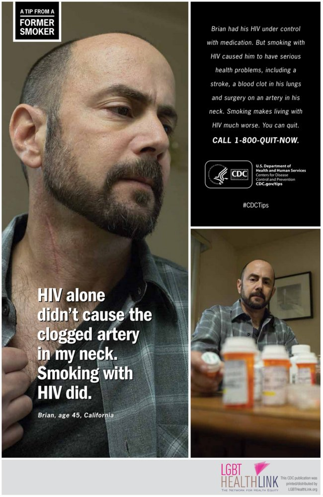 "A <a href=""http://www.ncbi.nlm.nih.gov/pubmed/25881965"" target=""_blank"">new study</a> of HIV-positive gay male smokers found"