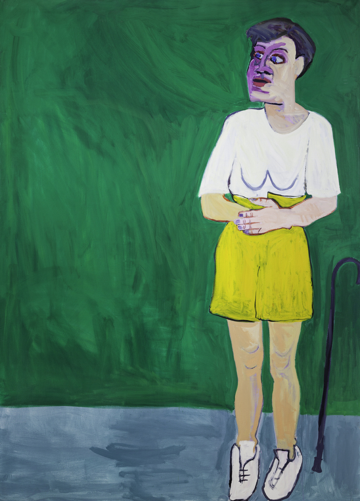 Standing Alone, 1997 Oil on canvas 218 x 157 cm 85 3/4 x 61 3/4 in