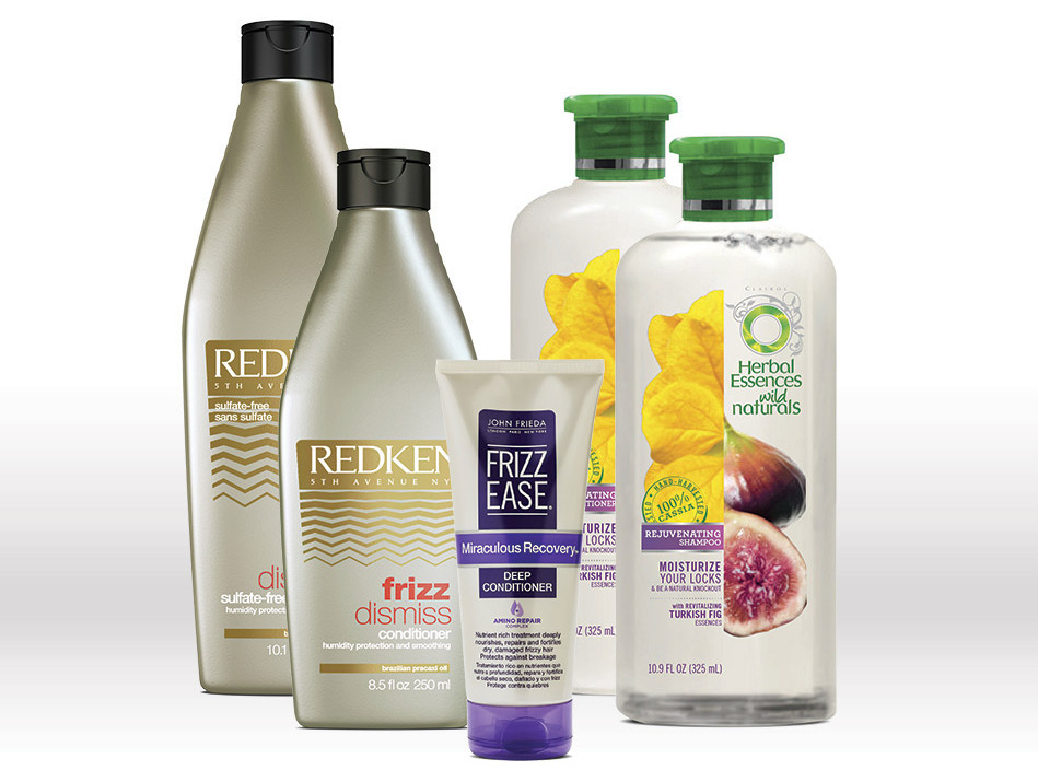 <b>Mane Problems</b><br> Frizz, dryness <br><br><b>You Need...</b><br> Hydrating shampoo and conditioner. On the ingredients