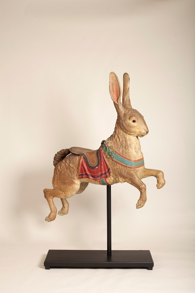 Attributed to the Dentzel Company, possibly Salvatore Cernigliaro (1879-1974). Rabbit Carousel Figure, ca. 1910. Basswood and