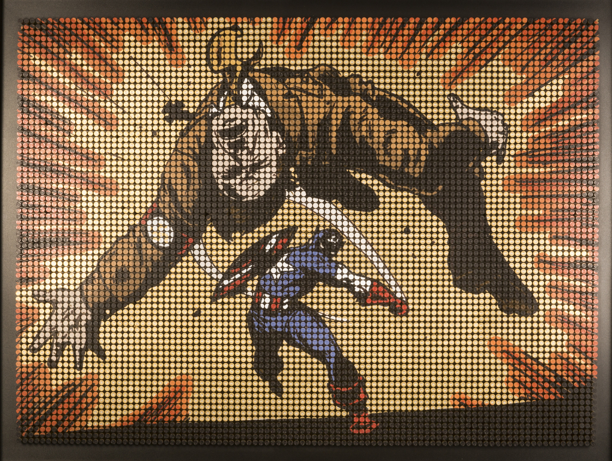 Arsenal of Democracy, 8000 spent military rounds, 125cm x 175cm: Captain America Comics number 1 issue was in March 1941 and