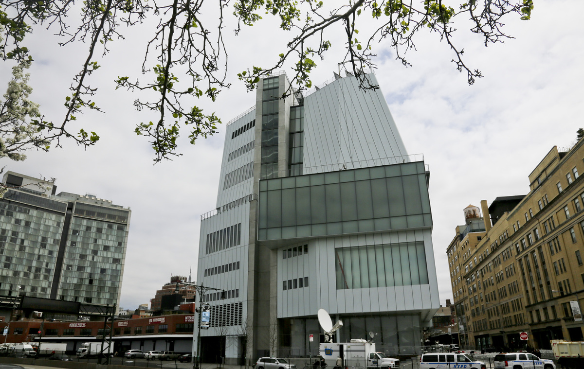 A view of the westside exterior of  the new $422 million Renzo Piano-designed Whitney Museum of American Art, Thursday, April