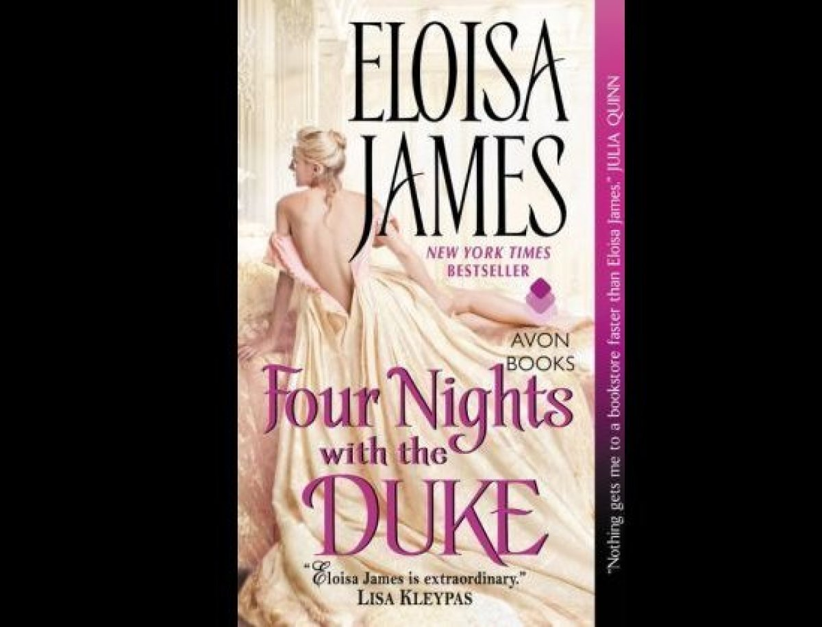 """<a href=""""http://amzn.to/1E2McW9"""" target=""""_hplink"""">Four Nights with the Duke</a> is a romance novel about a romance writer and"""