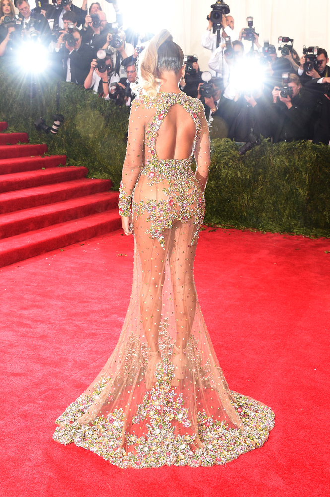 beyoncé's met gala 2015 dress is barely there  huffpost