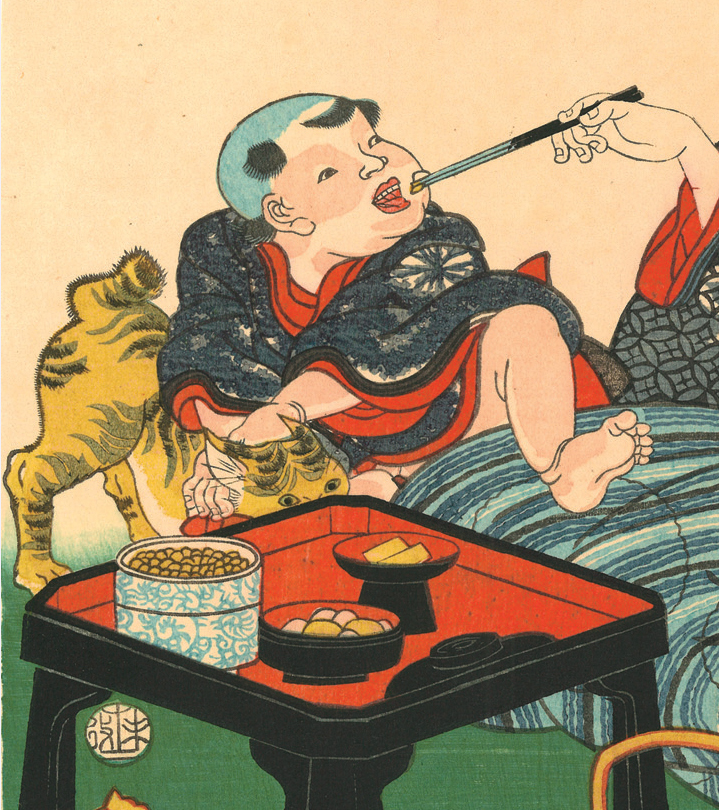 Utagawa Kunisada (Toyokuni III: 1786–1865), Mother and Child from the series Modern Contest of Poems, 1859. Color woodblock p