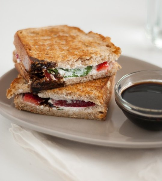 "<strong>Get the <a href=""http://cookieandkate.com/2012/strawberry-basil-and-goat-cheese-panini/"" target=""_blank"">Strawberry,"