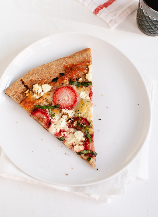 "<strong>Get the <a href=""http://cookieandkate.com/2013/strawberry-basil-and-balsamic-pizza/"" target=""_blank"">Strawberry, Basi"