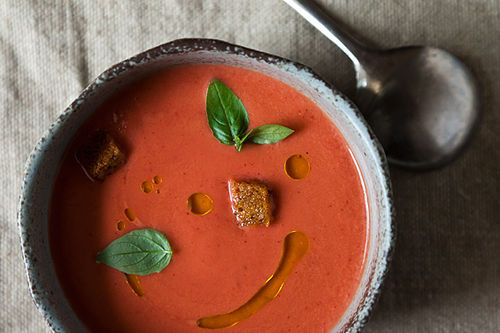 "<strong>Get the <a href=""http://food52.com/recipes/18052-eleven-madison-park-s-strawberry-gazpacho"" target=""_blank"">Strawberr"