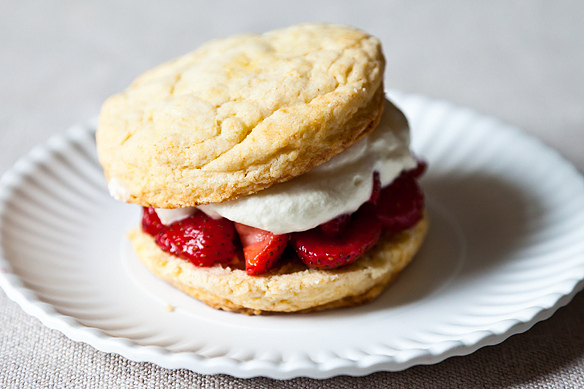 "<strong>Get the <a href=""http://food52.com/recipes/17661-james-beard-s-strawberry-shortcakes"" target=""_blank"">Strawberry Shor"