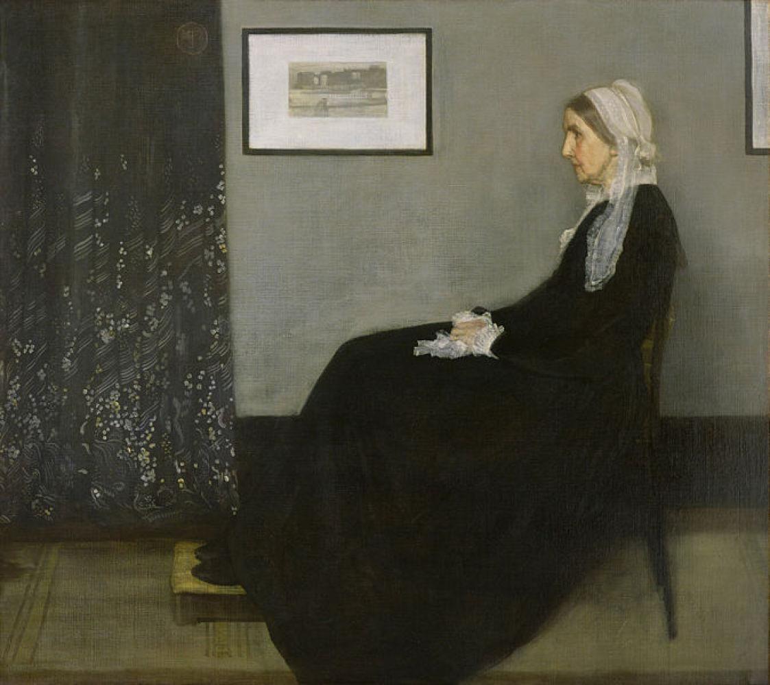 """James Whistler, """"Whistler's Mother,"""" 1871"""