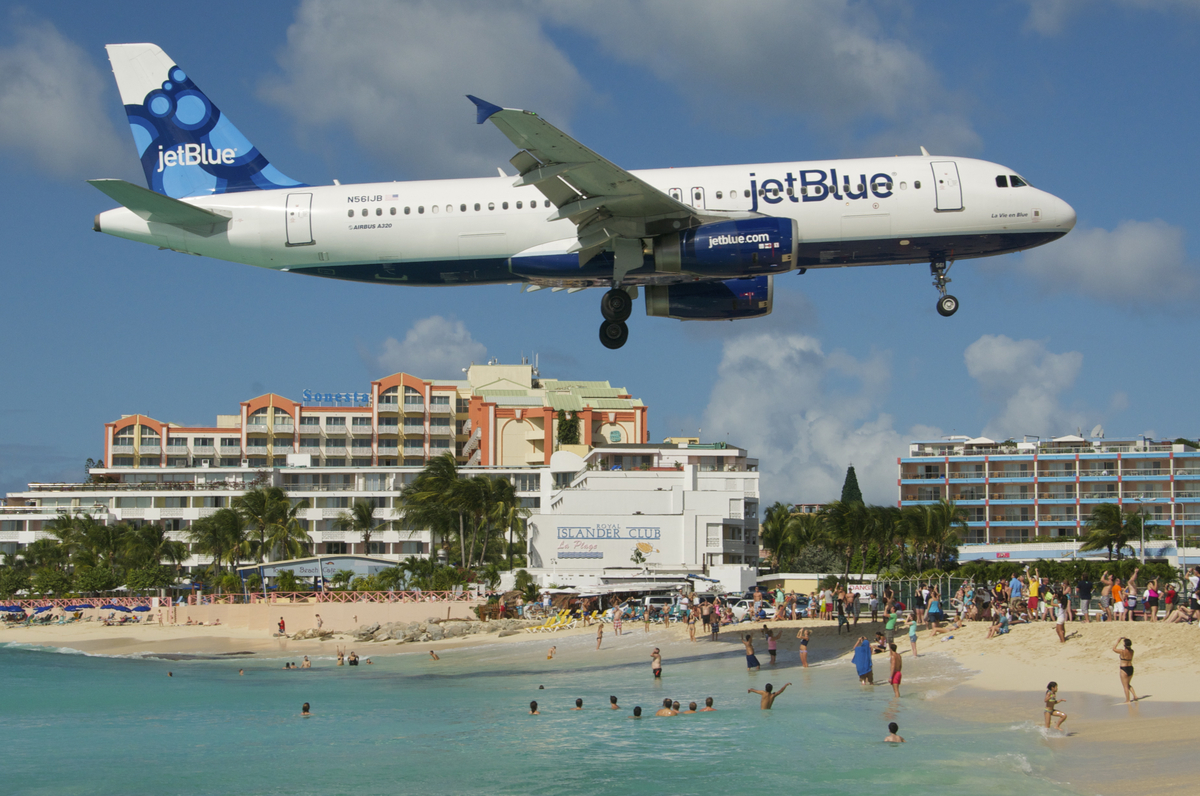 The main airport on the Caribbean island of Saint Martin, this airport's runway is situated in close proximity to Maho beach.