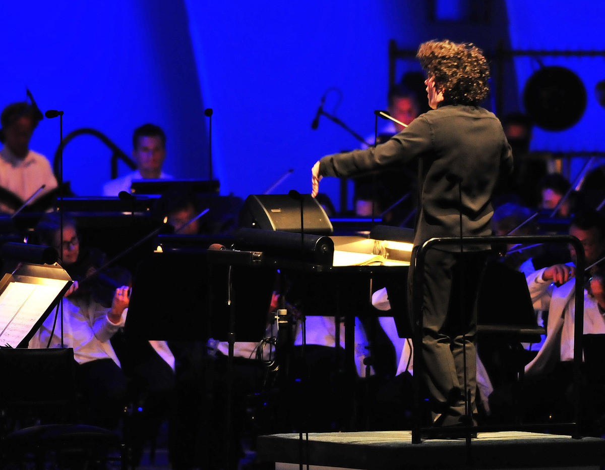Gustavo Dudamel conducts soprano Christine Brewer and The Los Angeles Philharmonic on Sunday, July 17, 2011, at The Hollywood