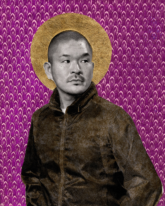 Hiroshi. 2011, From the series Queer Icons, Photogravure w/ Chine-Colle, 11x14, image size 8x10. Gabriel Garcia Roman