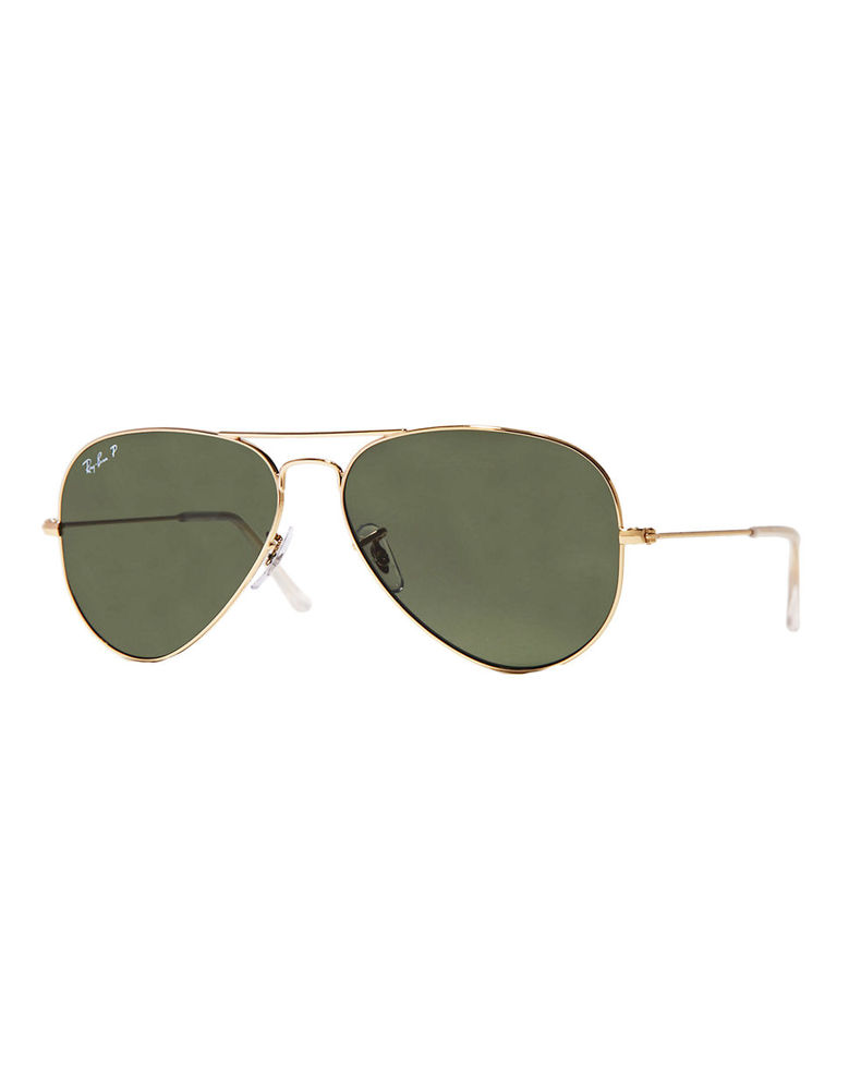 "Ray-Ban Original Classic Aviator Sunglasses, $250.   Available at <a href=""http://www.thebay.com/webapp/wcs/stores/servlet/en"