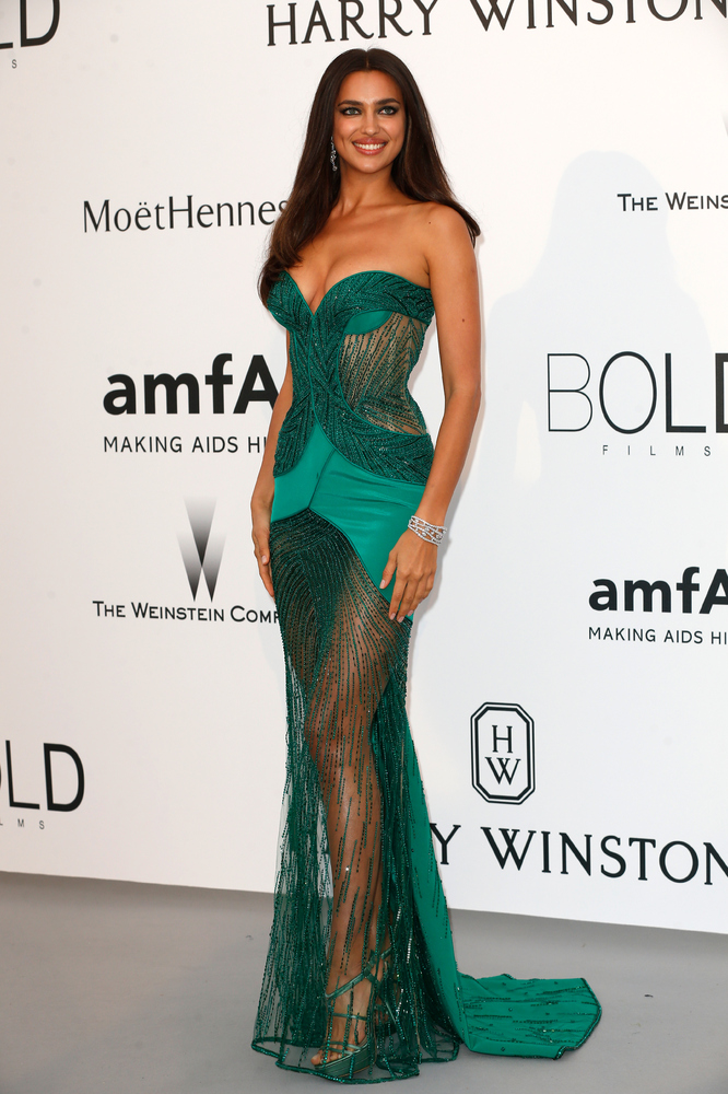 Model Irina Shayk attends amfAR's 22nd Cinema Against AIDS Gala, Presented By Bold Films And Harry Winston at Hotel du Cap-Ed