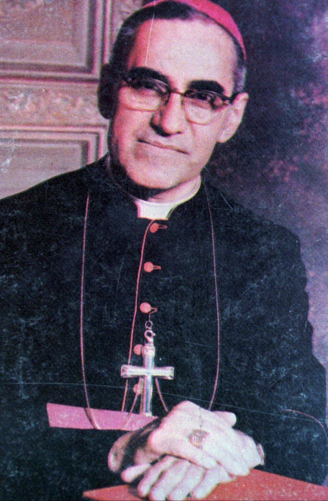 FILE - This undated file photo shows Archbishop Oscar Arnulfo Romero who was gunned down while giving Mass in a San Salvador