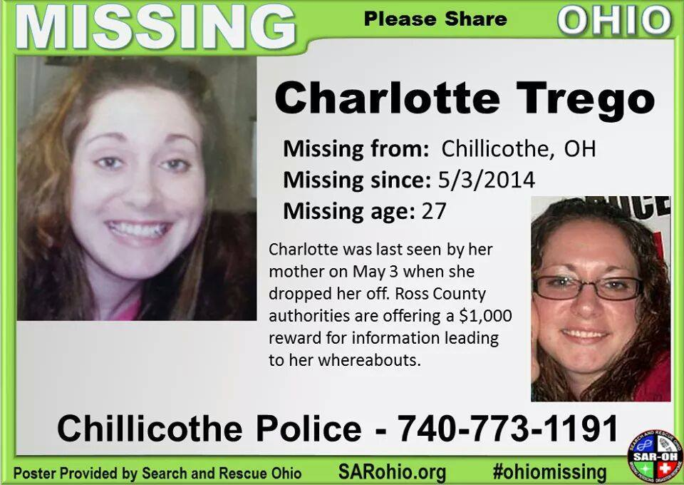 Charlotte Trego, 27, was the first of the women to go missing in Chillicothe. She was last seen by her family on May 3, 2014.