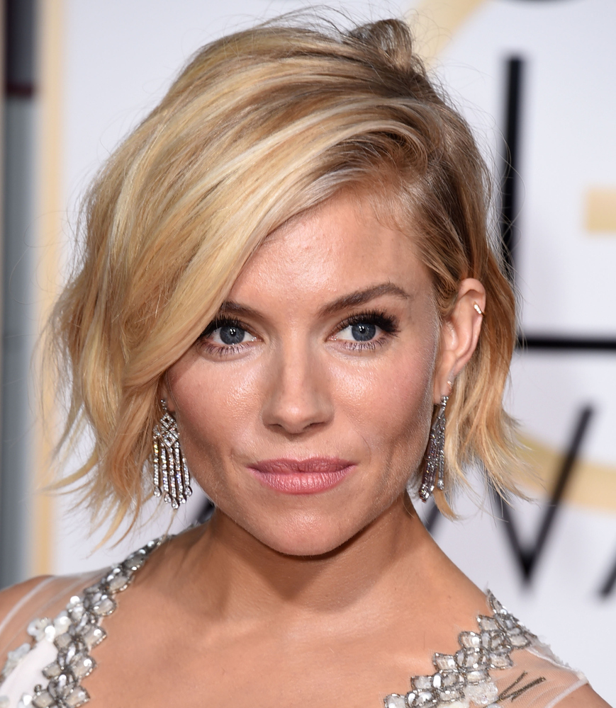 Sienna Miller's chic tousled bob is the epitome of cool girl chic.