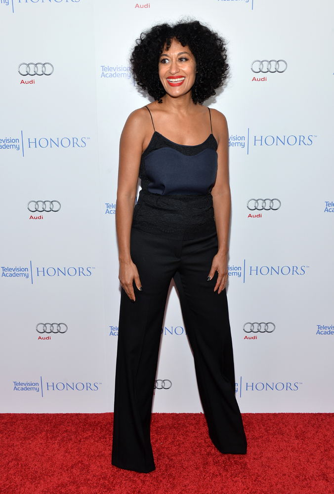 <strong>Tracee Ellis Ross:</strong> Okay, so navy and black might not seem like an obviously color combination for spring, bu