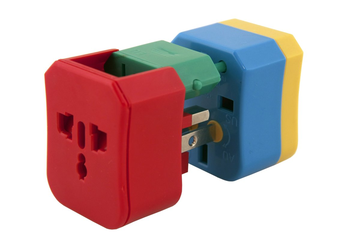 As useful as it is cute, this brightly colored pack of 4 adapters covers all your power needs in 150 countries. Best of all,