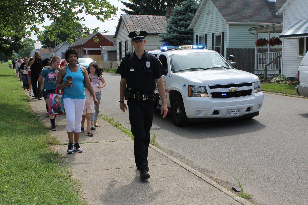 Family members of the missing women marched alongside members of the community in Chillicothe on May 30.