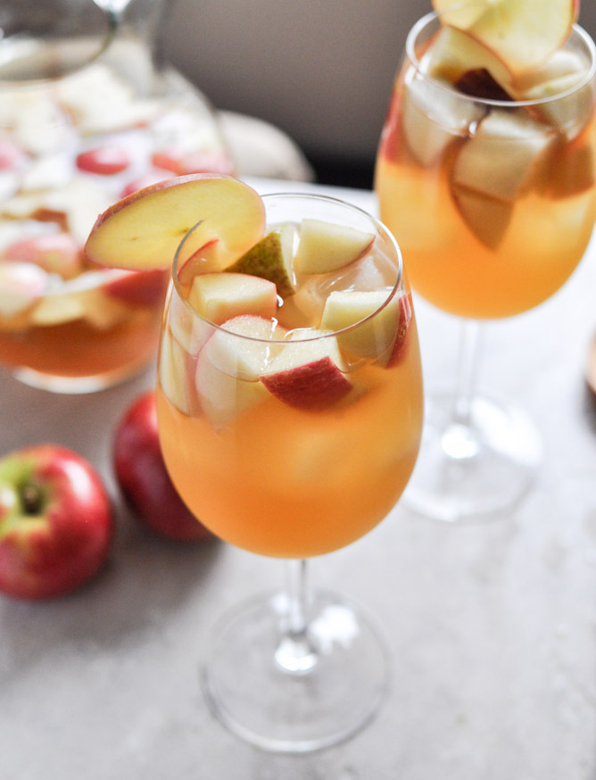 """<strong>Get the <a href=""""http://www.howsweeteats.com/2012/10/apple-cider-sangria/"""" target=""""_blank"""">Apple Cider Sangria recipe"""