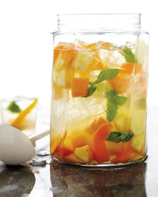 "<strong>Get the <a href=""http://www.marthastewart.com/317946/summer-fruit-sangria?czone=food%2Fbest-grilling-recipes%2Fmenus&"