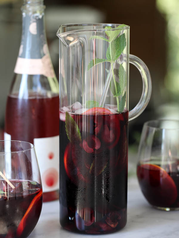 """<strong>Get the <a href=""""http://www.foodiecrush.com/2013/07/roasted-cherry-sangria/"""" target=""""_blank"""">Roasted Cherry Sangria r"""