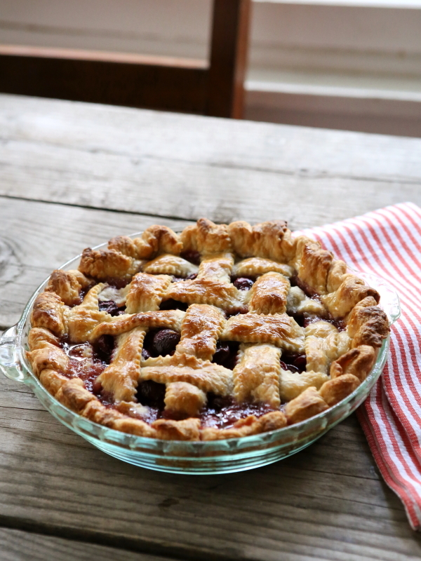 "<strong>Get the <a href=""http://www.completelydelicious.com/2014/06/sweet-cherry-pie.html"" target=""_blank"">Sweet Cherry Pie r"