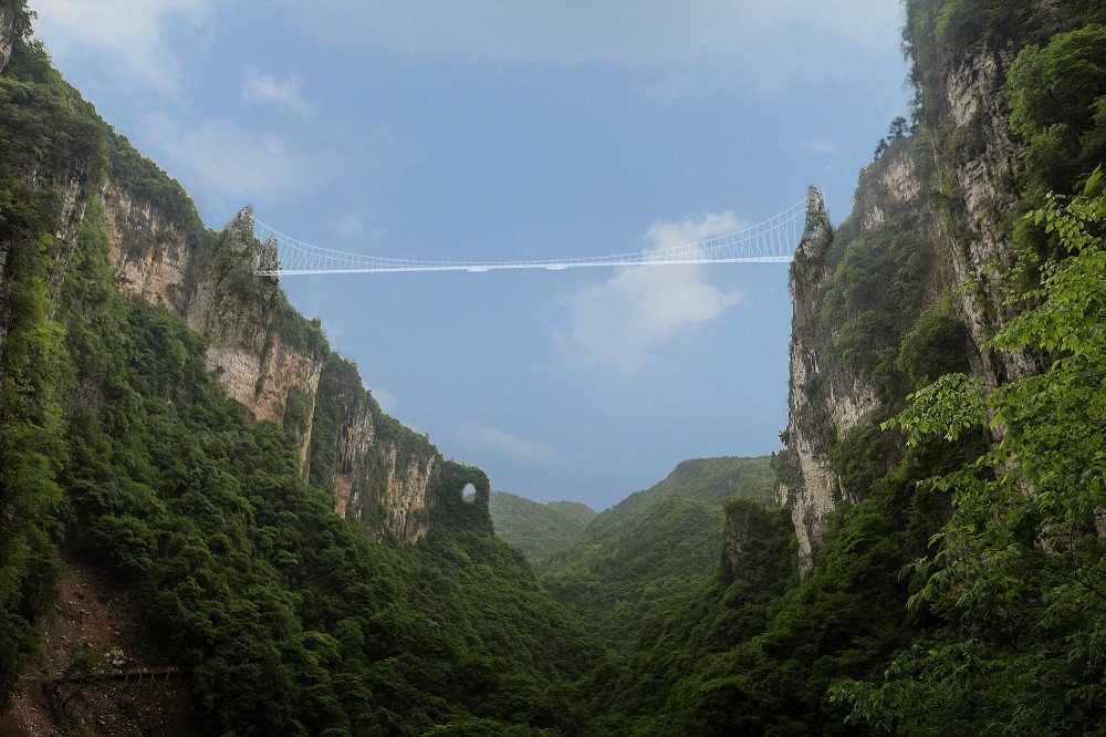 China Set To Open Worlds Longest And Highest GlassBottom Bridge - China opens worlds longest skywalk