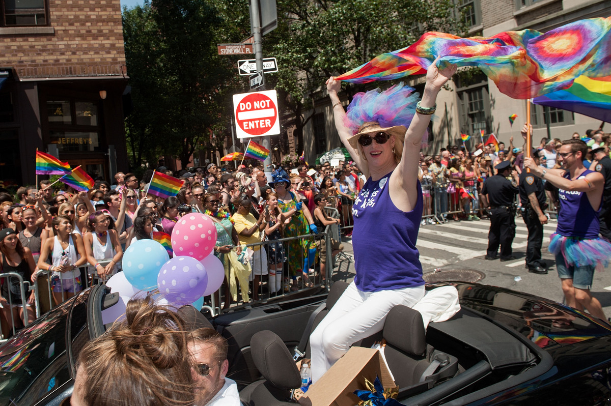NEW YORK, NY - JUNE 29:  A general view of atmosphere during the 2014 New York City Pride March on June 29, 2014 in New York
