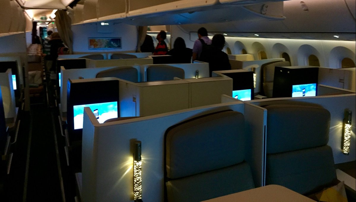 Etihad's <em>Business Studio</em> seats are arranged in a 1-2-1 configuration.