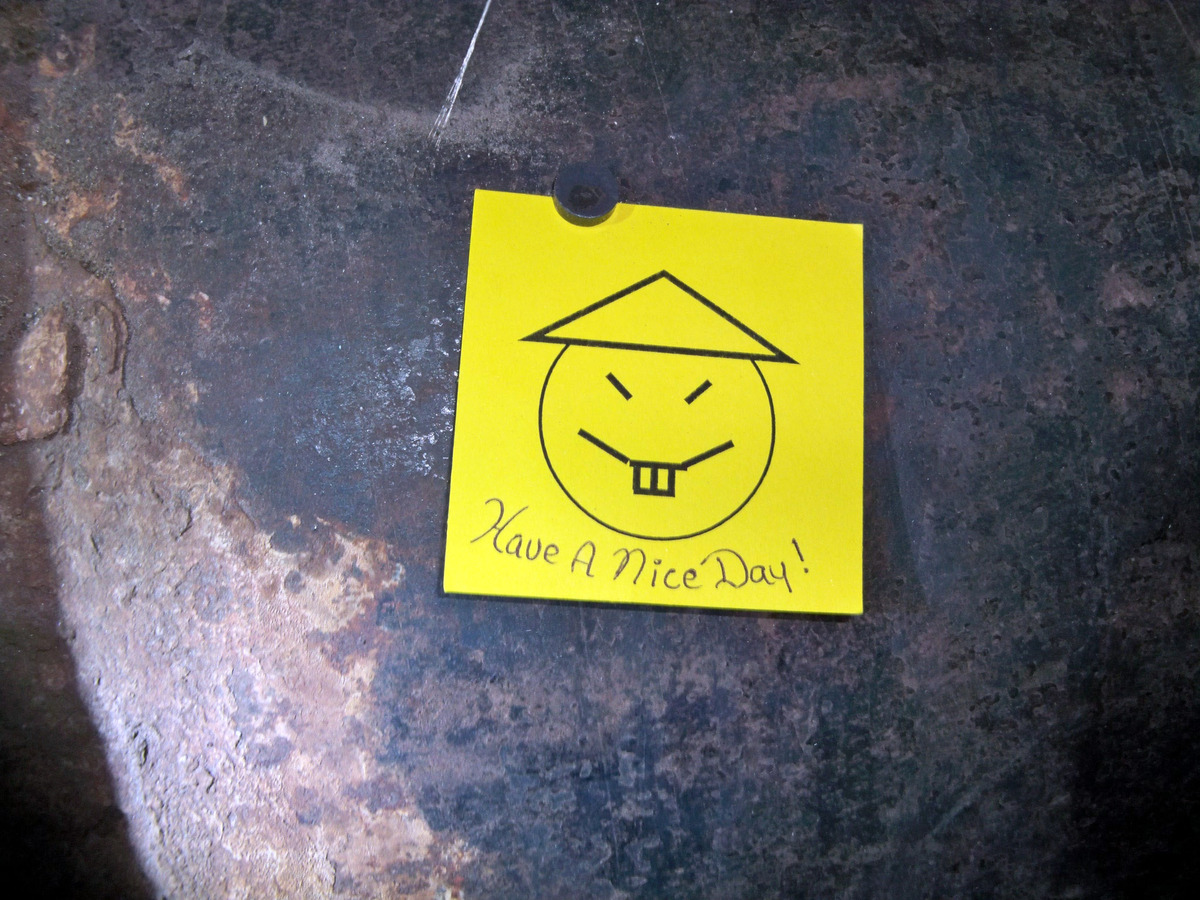 This photo provided by New York State Governor's office shows the note left by two convicted murderers  who used power tools