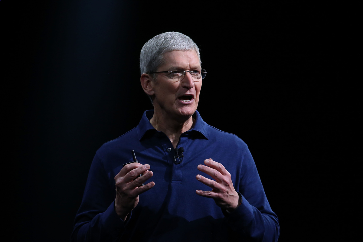 SAN FRANCISCO, CA - JUNE 08:  Apple CEO Tim Cook delivers the keynote address during Apple WWDC on June 8, 2015 in San Franci