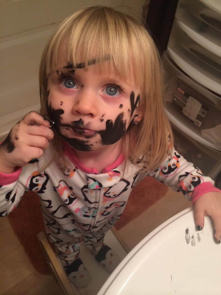 this is what happens when kids discover makeup huffpost