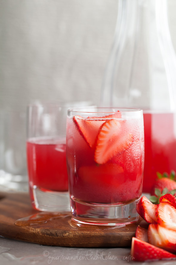 "<strong>Get the <a href=""http://gourmandeinthekitchen.com/2014/hibiscus-strawberry-rhubarb-iced-tea/"" target=""_blank"">Hibiscu"
