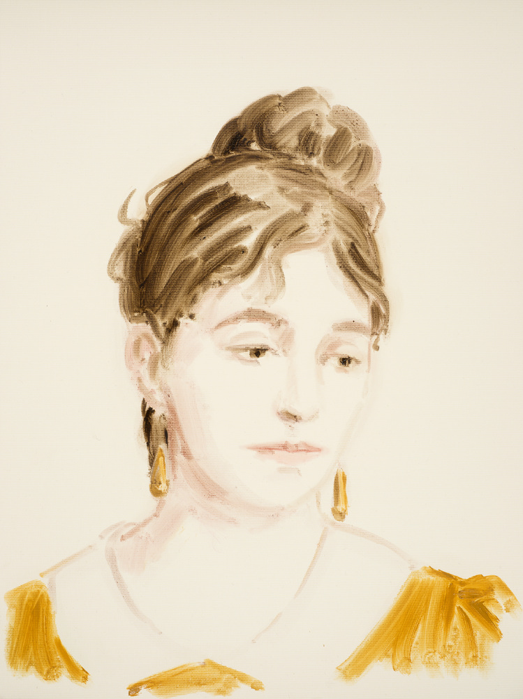 Annie Kevan, Marie Bracquemond, 2014 oil on paper 40 x 30