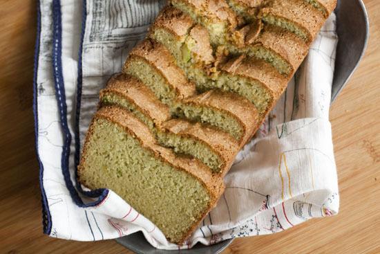 """<strong>Get the <a href=""""http://www.macheesmo.com/2012/08/avocado-pound-cake/"""" target=""""_blank"""">Avocado Pound Cake recipe</a>"""