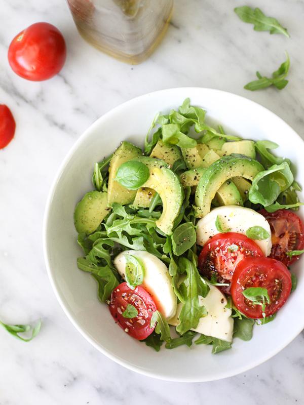 """<strong>Get the <a href=""""http://www.foodiecrush.com/2014/05/avocado-caprese-salad-plus-5-crunchy-avocado-salads/"""" target=""""_bl"""
